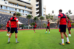 Bristol City players warm up ahead of a training match - Mandatory by-line: Matt McNulty/JMP - 19/07/2017 - FOOTBALL - Tenerife Top Training Centre - Costa Adeje, Tenerife - Pre-Season Training
