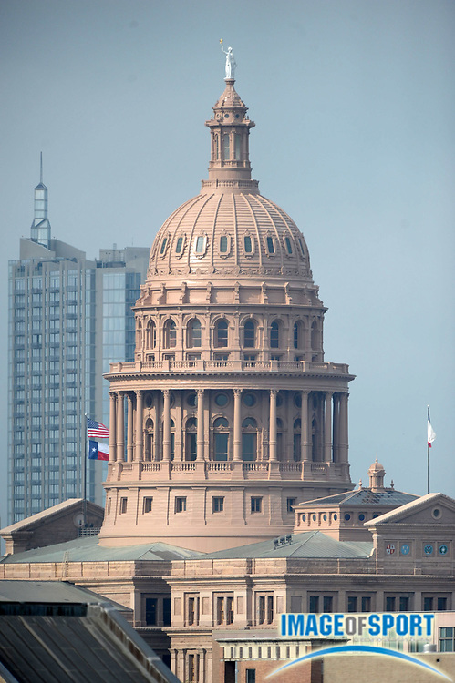 Mar 30, 2012; Austin, TX, USA; General view of the Texas state capitol building.