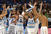 27/08/04 - ATHENS  - GREECE -  - BASKETBALL SEMIFINAL MATCH   - Indoor Olympic Stadium - <br />