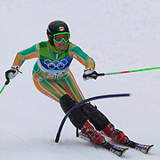 Winter Olympics, Vancouver, 2010.Kirsten McGarry, Ireland, who was disqualified on run one during the Alpine Skiing Ladies Slalom at Whistler Creekside, Whistler, during the Vancouver Winter Olympics. 24th February 2010. Photo Tim Clayton