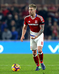 Adam Clayton of Middlesbrough - Mandatory by-line: Robbie Stephenson/JMP - 05/12/2016 - FOOTBALL - Riverside Stadium - Middlesbrough, England - Middlesbrough v Hull City - Premier League