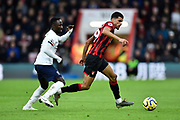 Dominic Solanke (9) of AFC Bournemouth on the attack during the Premier League match between Bournemouth and Liverpool at the Vitality Stadium, Bournemouth, England on 7 December 2019.
