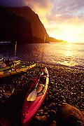 Kayaks, Haka'ano, Molokai, Hawaii<br />
