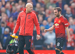 MANCHESTER, ENGLAND - Sunday, February 24, 2019: Manchester United's Juan Mata walks off injured during the FA Premier League match between Manchester United FC and Liverpool FC at Old Trafford. (Pic by David Rawcliffe/Propaganda)