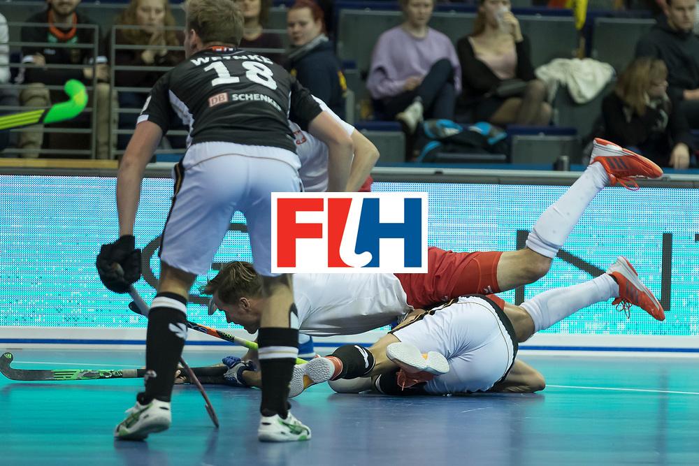 Hockey, Seizoen 2017-2018, 08-02-2018, Berlijn,  Max-Schmelling Halle, WK Zaalhockey 2018 MEN, Poland - Germany 3-6, MIKULA Artur (POL)