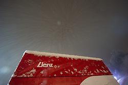 26.12.2013, Hochstein, Lienz, AUT, FIS Weltcup Ski Alpin, Lienz, Vorberichterstattung anlaesslich des Skiweltcups der Damen, im Bild Feature Lienz mit Schneefall // Feature Lienz and Snow during the preparation of the race way for Ladies Skiworldcup at Hochstein, Lienz, Austria on 2013-12-26, EXPA Pictures © 2013 PhotoCredit: EXPA/ Michael Gruber