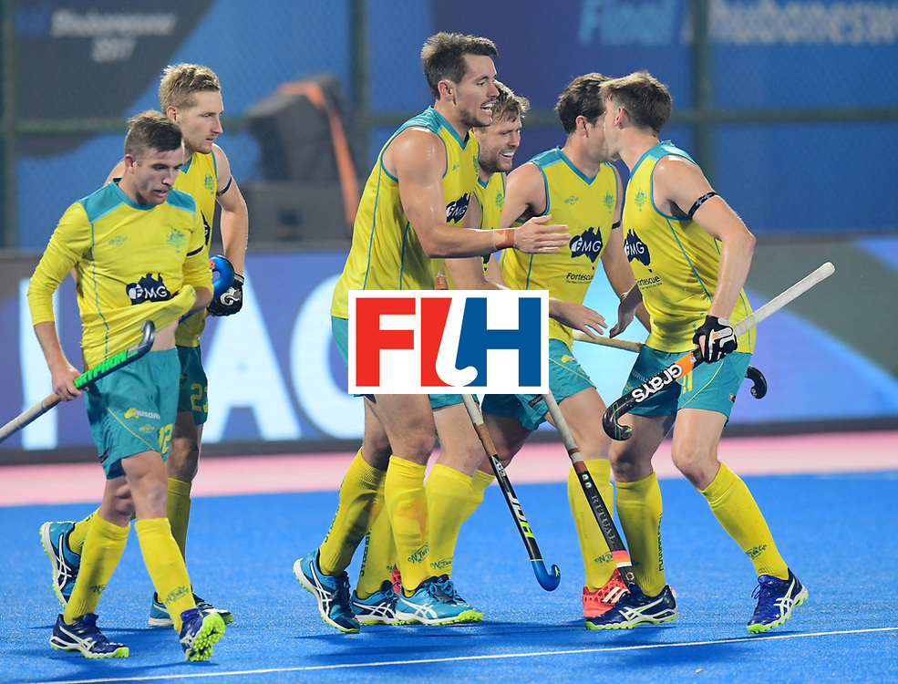 Odisha Men's Hockey World League Final Bhubaneswar 2017<br /> Match id:15<br /> Spain v Australia<br /> Foto: Australia scored goal<br /> COPYRIGHT WORLDSPORTPICS FRANK UIJLENBROEK