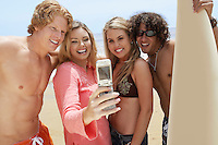 Friends Taking Picture with Camera Phone