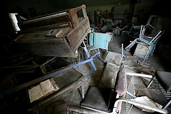 30 Jan, 2006. New Orleans, Louisiana. Post Katrina.<br /> Pontchartrain Baptist Church remains in ruins just blocks from the 17th street canal breach in Lakeview. Much of the city remains in ruins 5 months after hurricane Katrina destroyed the levees, flooding the area.<br /> Photo; Charlie Varley/varleypix.com
