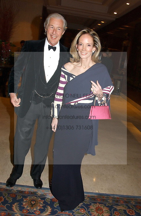 MR & MRS MARTIN SUMMERS at the Conde Nast Traveller magazine Tsunami Appeal Dinner at the Four Seasons Hotel, Hamilton Place, London W1 on 2nd March 2005.<br />