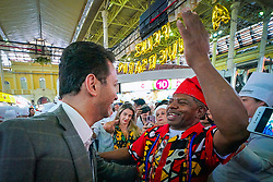 Porto Alegre, RS 03/10/2019: o prefeito, Nelson Marchezan Júnior, participou, na manhã desta quinta-feira (03), do ato que marca o início das festividades de aniversário de 150 anos do Mercado Público Central, na capital. Foto: Jefferson Bernardes/PMPA