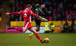 Liam Sercombe of Bristol Rovers challenges Nicky Devlin of Walsall - Mandatory by-line: Robbie Stephenson/JMP - 26/12/2017 - FOOTBALL - Banks's Stadium - Walsall, England - Walsall v Bristol Rovers - Sky Bet League One
