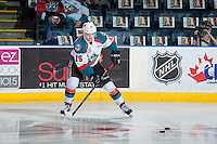 KELOWNA, CANADA - JANUARY 7: Tomas Soustal #15 of the Kelowna Rockets warms up against the Kamloops Blazers on January 7, 2017 at Prospera Place in Kelowna, British Columbia, Canada.  (Photo by Marissa Baecker/Shoot the Breeze)  *** Local Caption ***