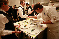 in the kitchen of Per Se, the restaurant of Chef Thomas Keller, NY