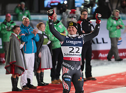 11.02.2013, Planai, Schladming, AUT, FIS Weltmeisterschaften Ski Alpin, Super Kombination, Slalom, Herren, Siegerpraesentation, im Bild Ivica Kostelic (CRO, 2. Platz) // Ivica Kostelic of Croatia, 2nd place celebrate at the  Winners Presentation, after teir runs at Mens Super Combined Slalom at the FIS Ski World Championships 2013 at the Planai Course, Schladming, Austria on 2013/02/11. EXPA Pictures © 2013, PhotoCredit: EXPA/ Sammy Minkoff