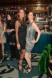 Left to right, YASMIN LE BON and SIENNA GUILLORY at a dinner hosted by Creme de la Mer to celebrate the launch of Genaissance de la Mer The Serum Essence held at Sexy Fish, Berkeley Square, London on 21st January 2016.