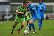 Forest Green Rovers Matty Stevens(9) on the ball during the The FA Cup match between Forest Green Rovers and Billericay Town at the New Lawn, Forest Green, United Kingdom on 9 November 2019.