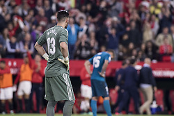 May 9, 2018 - Seville, Spain - KIKO CASILLA of Real Madrid (L) laments after Sevilla scores for 3-0- during the La Liga soccer match between Sevilla FC and Real Madrid at Sanchez Pizjuan Stadium (Credit Image: © Daniel Gonzalez Acuna via ZUMA Wire)