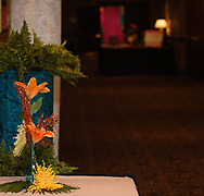 A table top decoration at the 17th Artemis Center Gala, Saturday night.