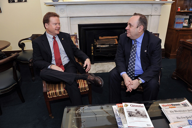 First Minister, Alex Salmond meets with Senator James Webb on Capitol Hill