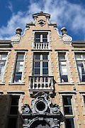 A typical example of the ornate architecture in Bruges, Belgium