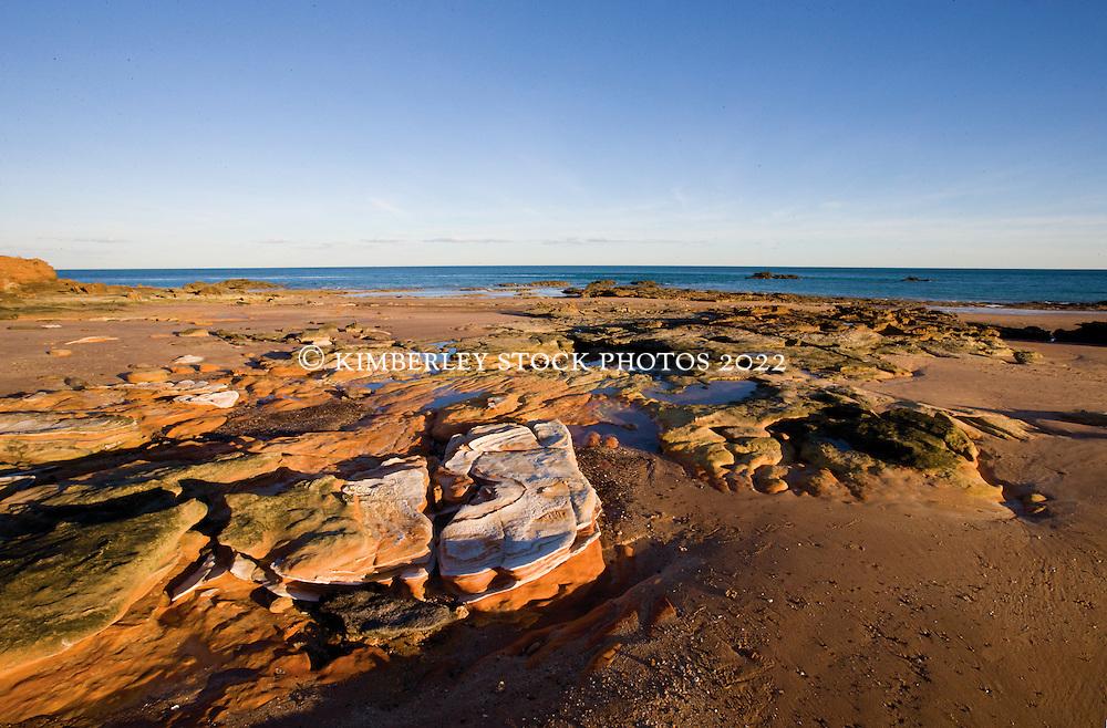 Sandstone meets Pindan at Broome's Riddelll Beach.