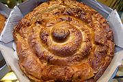 Ensaimada (almond cake).