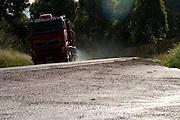 BR120_MG, Brasil...Caminhao na BR120 em um dia chuvoso em Minas Gerais...The truck on BR120 in the rainy day in Minas Gerais...Foto: BRUNO MAGALHAES / NITRO