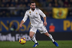 January 3, 2019 - Villarreal, Castellon, Spain - Daniel Carvajal of Real Madrid controls the ball during the week 17 of La Liga match between Villarreal CF and Real Madrid at Ceramica Stadium in Villarreal, Spain on January 3 2019. (Credit Image: © Jose Breton/NurPhoto via ZUMA Press)