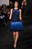 Liu Wen walks down runway for F2012 Prabal Gurung's collection in Mercedes Benz fashion week in New York on Feb 10, 2012 NYC