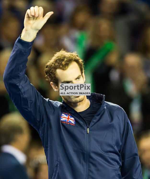 Andy Murray before the Davis Cup Semi-final between Great Britian and Australia (c) ROSS EAGLESHAM | Sportpix.co.uk