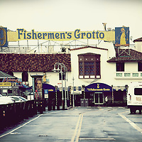 Parking in front of the seafood restaurant Fishermans Grotto at the San Fransisco Bay on December 21, 2015 in San Fransisco.
