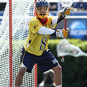 Drexel Goalkeeper Will Gabrielsen (8) at the goal in the second half of The NCAA Division I Men's Lacrosse Tournament game between the No. 5 seed Denver and No. 12 ranked Drexel Sunday, May. 18, 2014 at Delaware Stadium in Newark, DEL