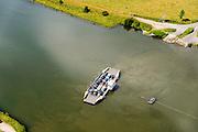 Nederland, Gelderland, Gemeente Utrechtse Heuvelrug, 26-06-2013; kabelpont over de Neder-rijn bij Amerongen.<br /> Cable ferry across the Lower Rhine.<br /> luchtfoto (toeslag op standaard tarieven);<br /> aerial photo (additional fee required);<br /> copyright foto/photo Siebe Swart.