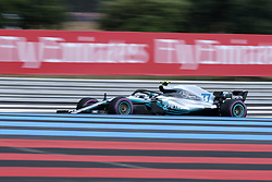 June 23, 2018 - Le Castellet, Var, France - Mercedes 77 Driver VALTTERI BOTTAS (FIN) in action during the Formula one French Grand Prix at the Paul Ricard circuit at Le Castellet - France (Credit Image: © Pierre Stevenin via ZUMA Wire)
