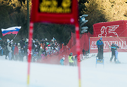 Tina Maze (SLO) with Andrea Massi and Valerio Ghirardi during her last ski in her career at 6th Ladies' Giant slalom at 53rd Golden Fox - Maribor of Audi FIS Ski World Cup 2015/16, on January 7, 2017 in Pohorje, Maribor, Slovenia. Photo by Vid Ponikvar / Sportida