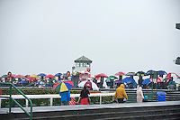 31/07/2013 Umbrellas were the order of the third day of the Galway Races  .   Picture:Andrew Downes