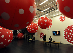 © Licensed to London News Pictures. 07/02/2012, London, UK. Press preview of Yayoi Kusama at the Tate Gallery Bankside today 7th February 2012. The exhibition spans six decades of the artists work. Kusama is one of Japan's best known living artists.  Photo credit : Stephen Simpson/LNP