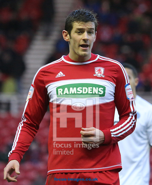 Picture by Paul Gaythorpe/Focus Images Ltd +447771 871632.26/01/2013.Lukas Jutkiewicz of Middlesbrough during the FA Cup match at the Riverside Stadium, Middlesbrough.