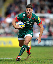Ben Youngs of Leicester Tigers in possession - Photo mandatory by-line: Patrick Khachfe/JMP - Mobile: 07966 386802 25/04/2015 - SPORT - RUGBY UNION - Leicester - Welford Road - Leicester Tigers v London Welsh - Aviva Premiership