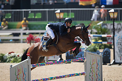 Fredricson Peder, SWE, H&M All In<br /> owner of the horse of Jerome with arms in the air<br /> Olympic Games Rio 2016<br /> © Hippo Foto - Dirk Caremans<br /> 14/08/16
