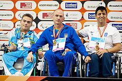 KOL Anton, BOIKO Hennadii, TAMPAXIS Christos UKR, GRE at 2015 IPC Swimming World Championships -  Men's 50m Backstroke S1