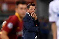 Eusebio Di Francesco of AS Roma looks on during the Uefa Champions League 2018/2019 Group G football match between AS Roma and CSKA Moscow at Olimpico stadium Allianz Stadium, Rome, October, 23, 2018 <br />  Foto Andrea Staccioli / Insidefoto