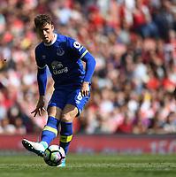 May 21st 2017, Emirates Stadium, Highbury London England; EPL Premier league football, Arsenal versus Everton; Ross Barkley , Midfielder for Everton plays a ball through <br /> Norway only