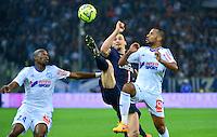 Zlatan IBRAHIMOVIC / Rod FANNI / Jacques-Alaixys ROMAO - 05.04.2015 - Marseille / Paris Saint Germain - 31eme journee de Ligue 1<br />Photo : Dave Winter / Icon Sport