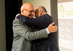 Ivo Daneu and Radenko Mijatovic, president of NZS during Traditional New Year party of of the Slovenian Football Association - NZS, on December 18, 2017 in Kongresni center, Brdo pri Kranju, Slovenia. Photo by Vid Ponikvar / Sportida