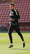 Charlton Athletic goalkeeper Nick Pope (30) during the warm up Sky Bet Championship match between Charlton Athletic and Middlesbrough at The Valley, London, England on 13 March 2016. Photo by Andy Walter.