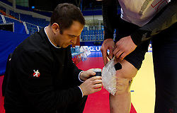 Sokol Kadrija during practice session of Slovenia National Handball team during 10th EHF European Handball Championship Serbia 2012, on January 17, 2012 in Millennium Center, Vrsac, Serbia. (Photo By Vid Ponikvar / Sportida.com)