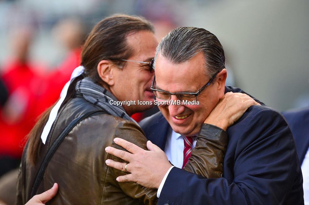 Francis LALANNE / Jean Pierre CAILLOT  - 12.04.2015 - Reims / Nice - 32eme journee de Ligue 1 <br />Photo : Dave Winter / Icon Sport