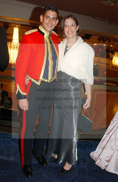 ALISTAIR GALLOWAY and VIRGINA COOK  at the annual Royal Caledonian Ball in aid of The Royal Caledonian Ball Trust held at The Grosvenor House Hotel, Park Lane, London W1 on 28th April 2005.<br />